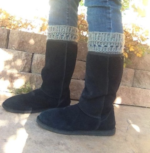 Stitch and Lace Boot Topper - a loom knit pattern