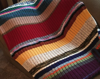One Row Scrapghan - a loom knit pattern