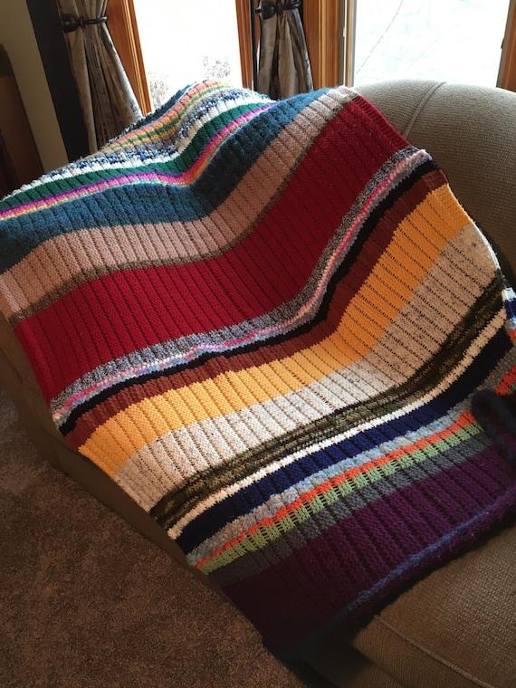 One Row Scrapghan - a loom knit pattern