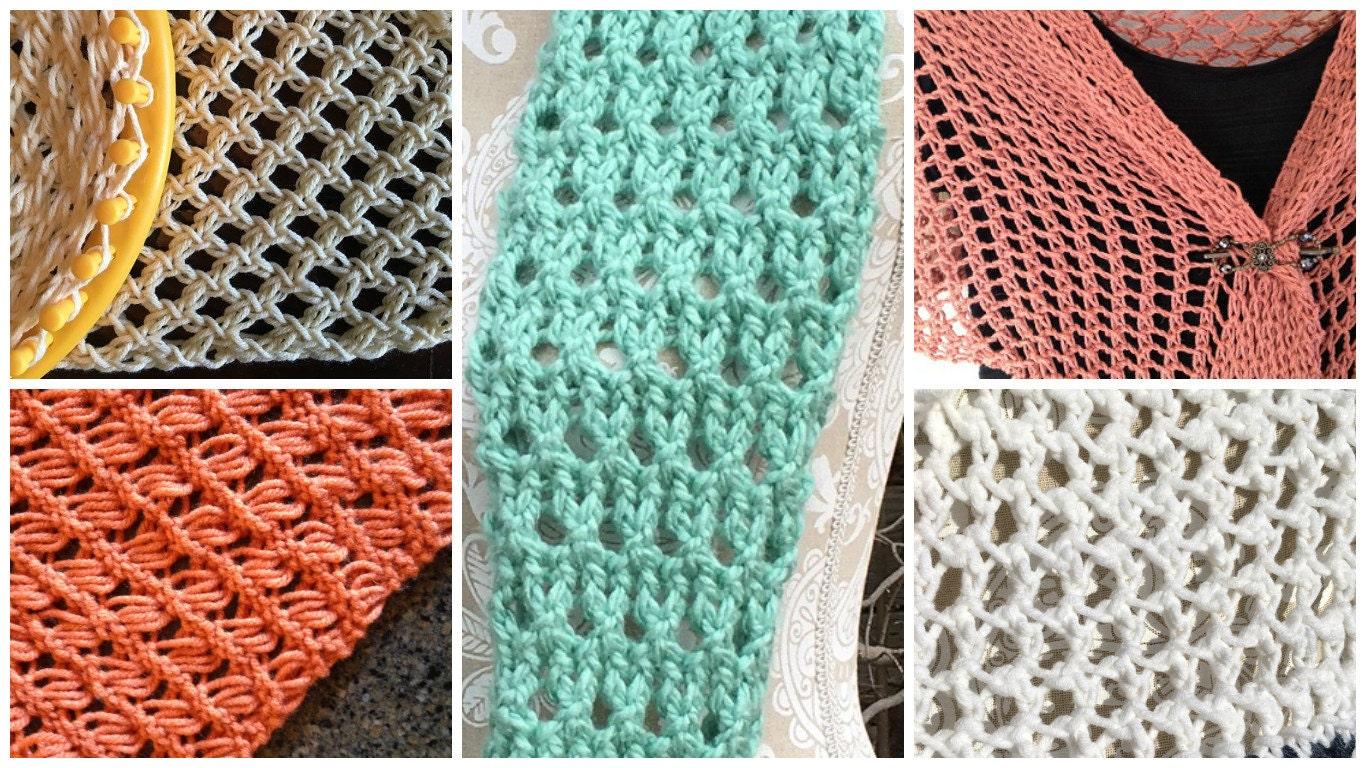 Stitches Ebook 5 Unique Loom Knit Stitch Patterns