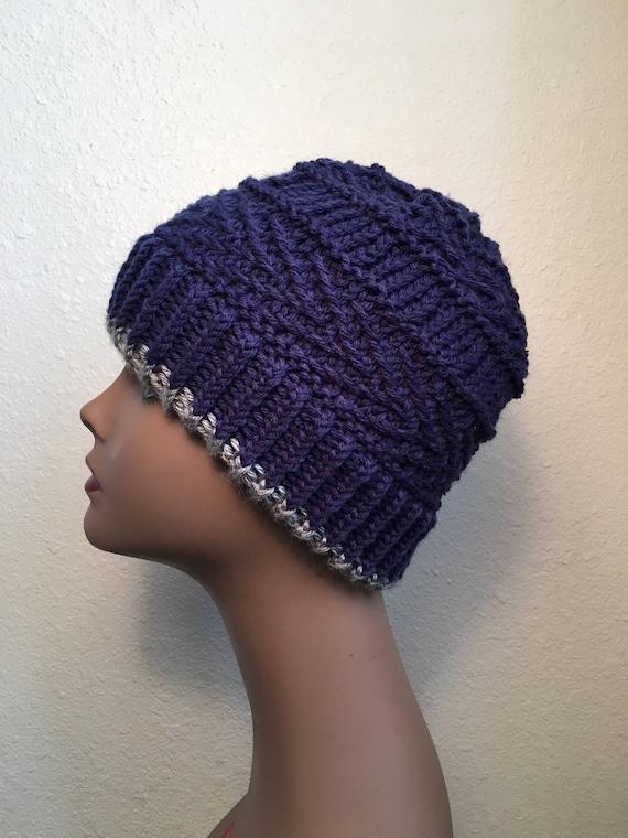 Boulder Beanie -- a loom knit pattern