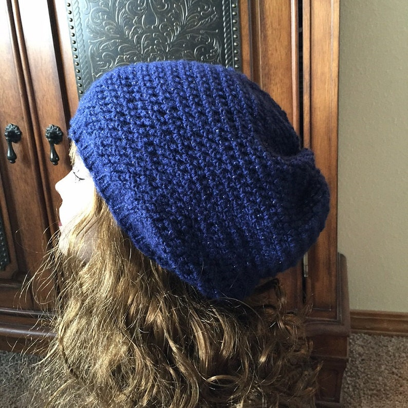 e310d68a3 Easy Slouchy Hat -- a loom knit pattern