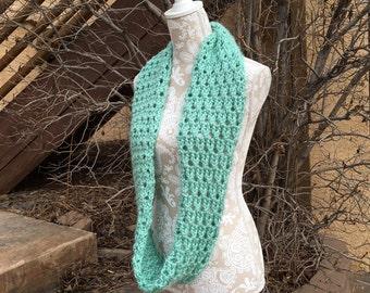 Larkspur Infinity Scarf - a loom knit pattern