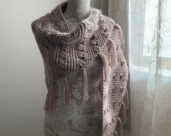 Home Sweet Home Shawl -- a loom knit pattern