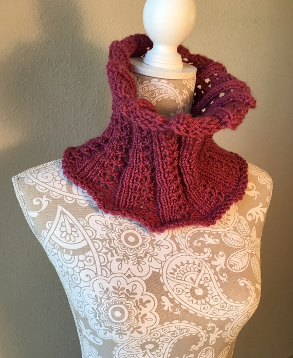Fireweed Cowl  --  a loom knit pattern