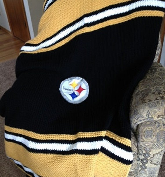 Steelers Blanket - a loom knit pattern