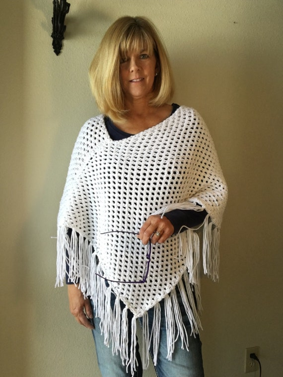 Spanish Peaks Poncho -- a loom knit pattern