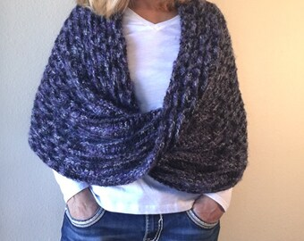 Black Forest Wrap -- Loom Knit Pattern