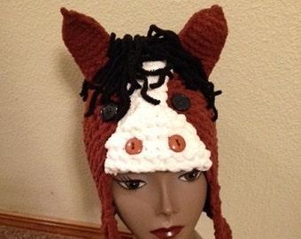 Horse Hat -- a loom knit pattern