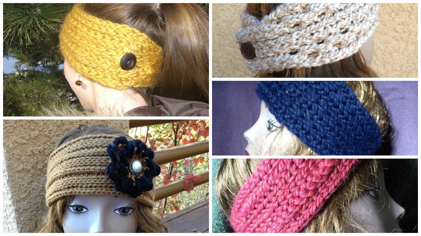 Ear Warmers Ebook 5 Unique Loom Knit Patterns