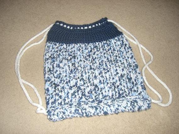 Cinch Backpack A Loom Knit Pattern Etsy