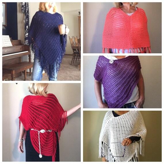 Ponchos eBook - 5 unique loom knit patterns