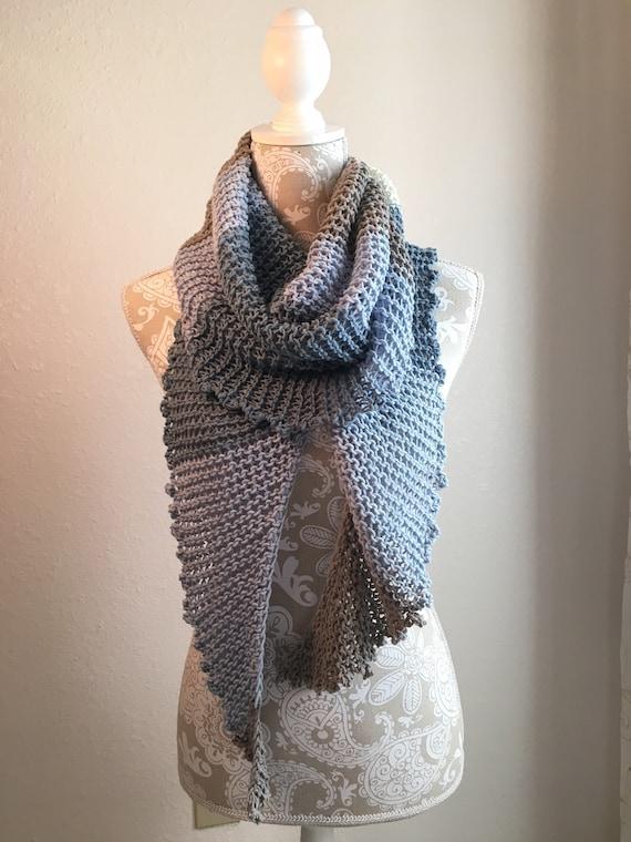 Knotty Scarf -- a loom knit pattern