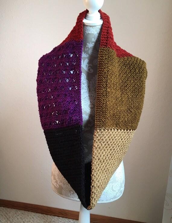Stitch Sampler Infinity Scarf  --  a loom knit pattern