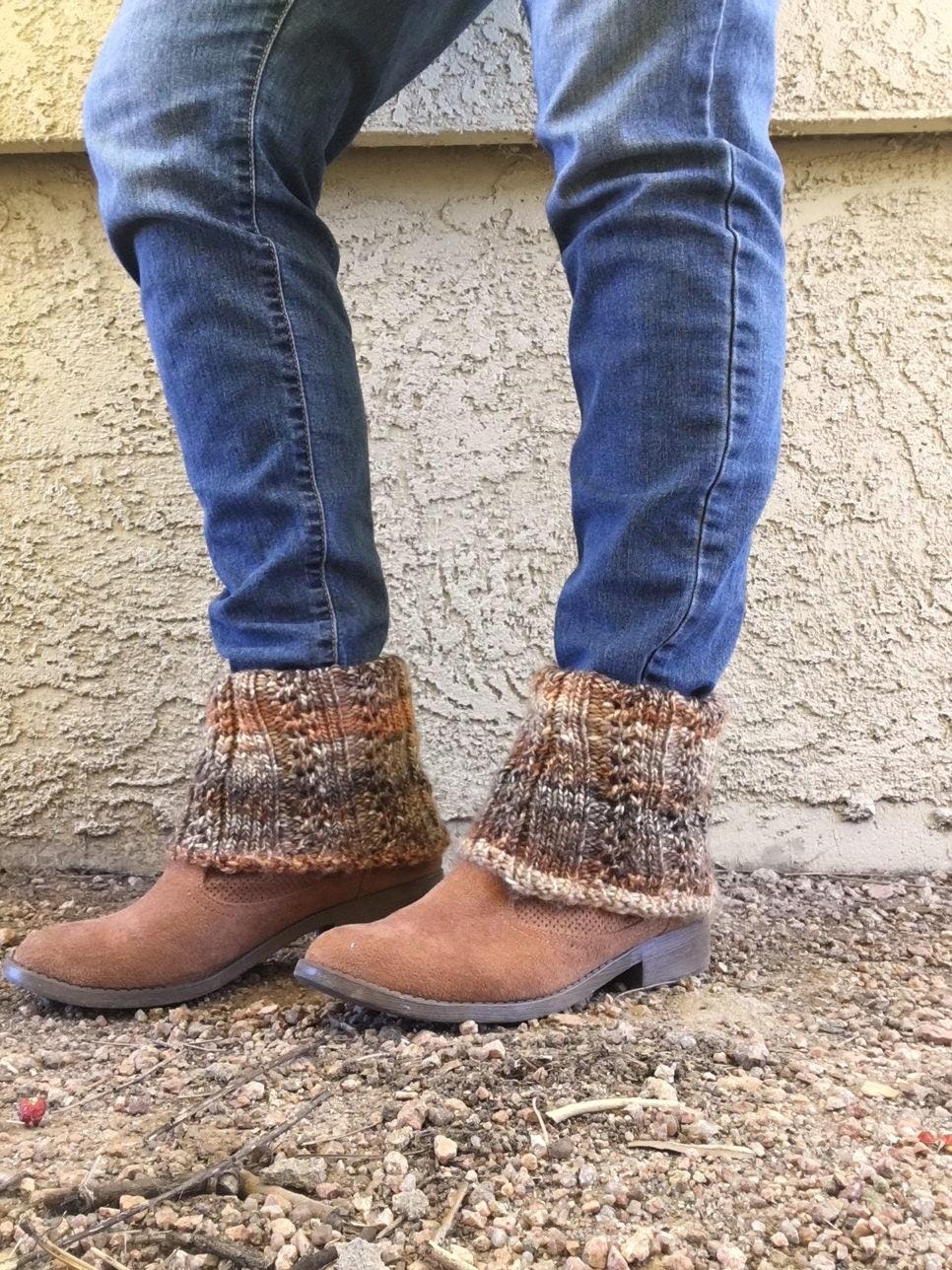 Ankle Boot Cuffs A Loom Knit Pattern