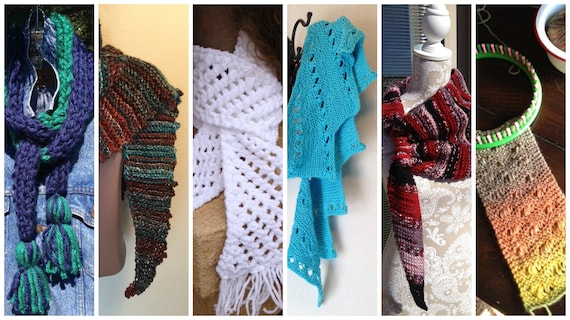 Scarves eBook -- 6 unique loom knit patterns