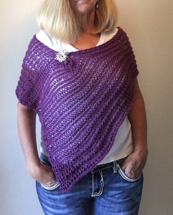 Impatient For Summer Poncho A Loom Knit Pattern Etsy