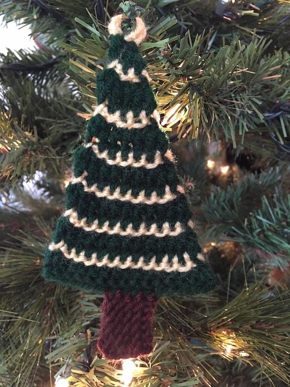 Tree Ornament -- a loom knit pattern