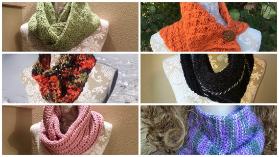 Cowls and Infinity Scarves eBook - 6 unique loom knit patterns