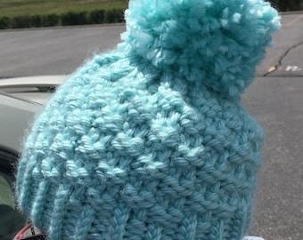 Whiskey Creek Beanie  --  a loom knit pattern