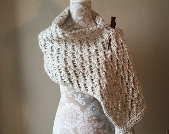 Lace Shawl - a loom knit pattern