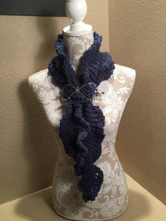 Pikes Peak Ruffle Scarf - a loom knit pattern