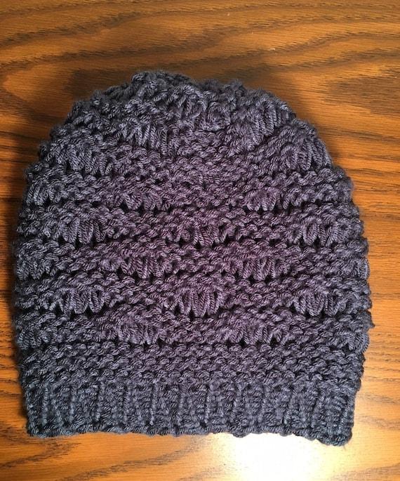 Cove Beach Hat  --  a loom knit pattern