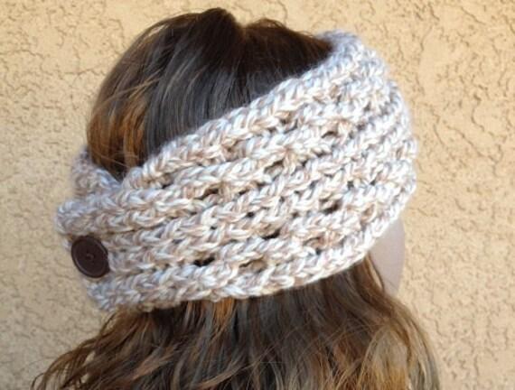 Lace Ribbed Ear Warmer A Loom Knit Pattern Etsy