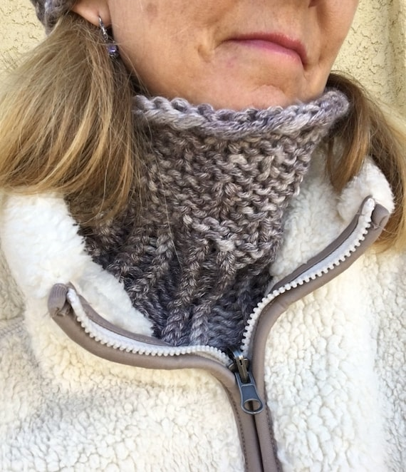 Cold Weather Cowl -- a loom knit pattern