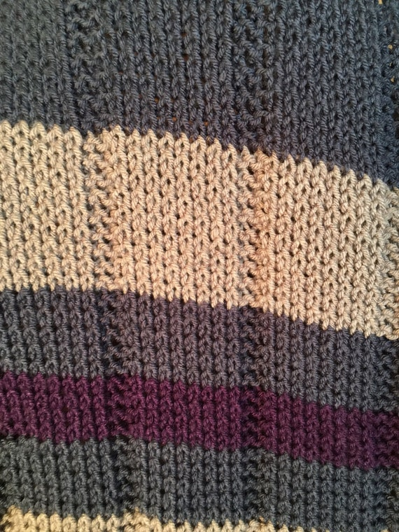 Striped Baby Blanket And Tassels Hat Two Loom Knit Patterns Etsy
