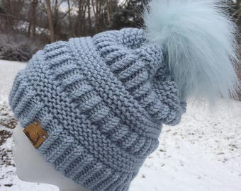 Brighton Beanie  --  a loom knit pattern