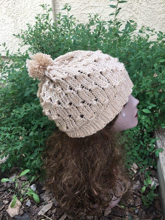 Cluster Stitch Hat - a loom knit pattern