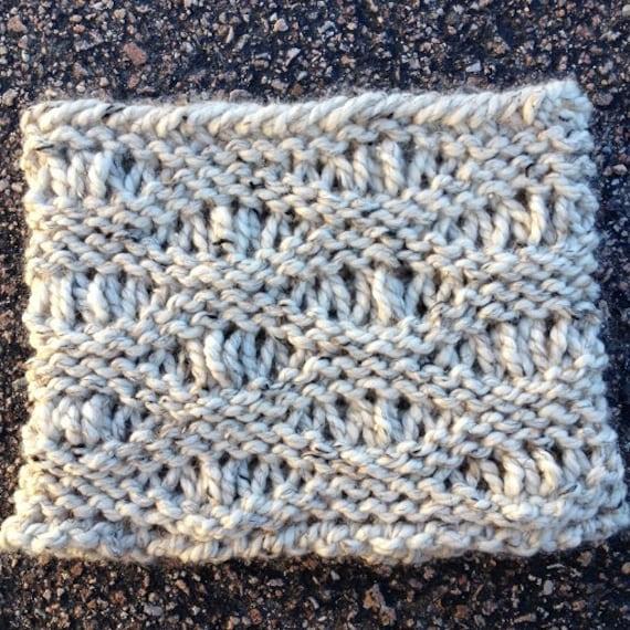 Cove Beach Cowl --  a loom knit pattern