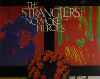 Rare Original 1977 The Stranglers UK Promotional Poster for the Album 'No More Heroes'.