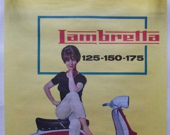 Original c.1965 Italian Lambretta Dealer Advertising Poster