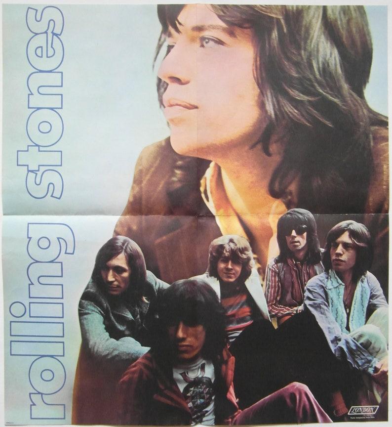 Original 1969 Rolling Stones insert Poster for the Album 'Let it Bleed'