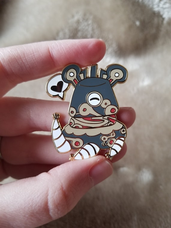 Zelda Inspired Chibi Ancient Guardian Hard Enamel Pin From Breath Of The Wild