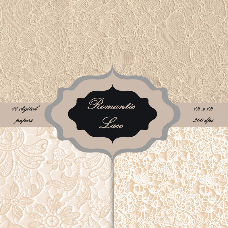 Vintage lace pattern background for scrapbooking wedding invitations LACE Digital Paper Pack cards Download Vintage shabby Backgrounds