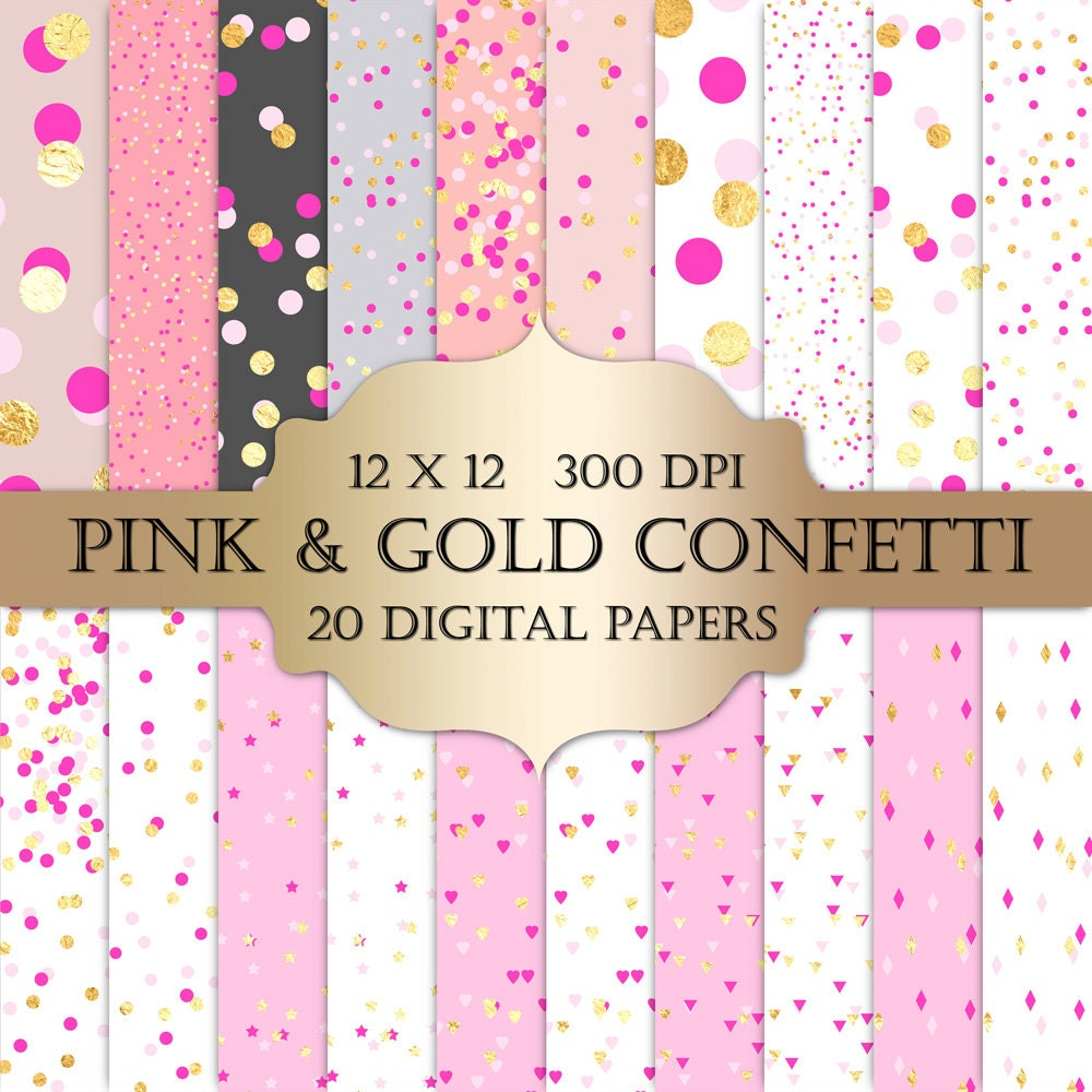San Valentín Digital papel de confeti confeti de la hoja de