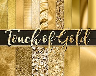 Gold Foil Digital Paper -  gold glitter gold foil fashion planner stickers digital paper gold textures gold backgrounds gold metallic