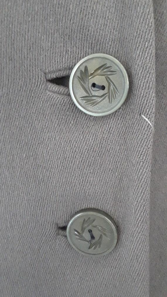 SALE* Vintage 1940s Wool & Chinchilla Princess Co… - image 9