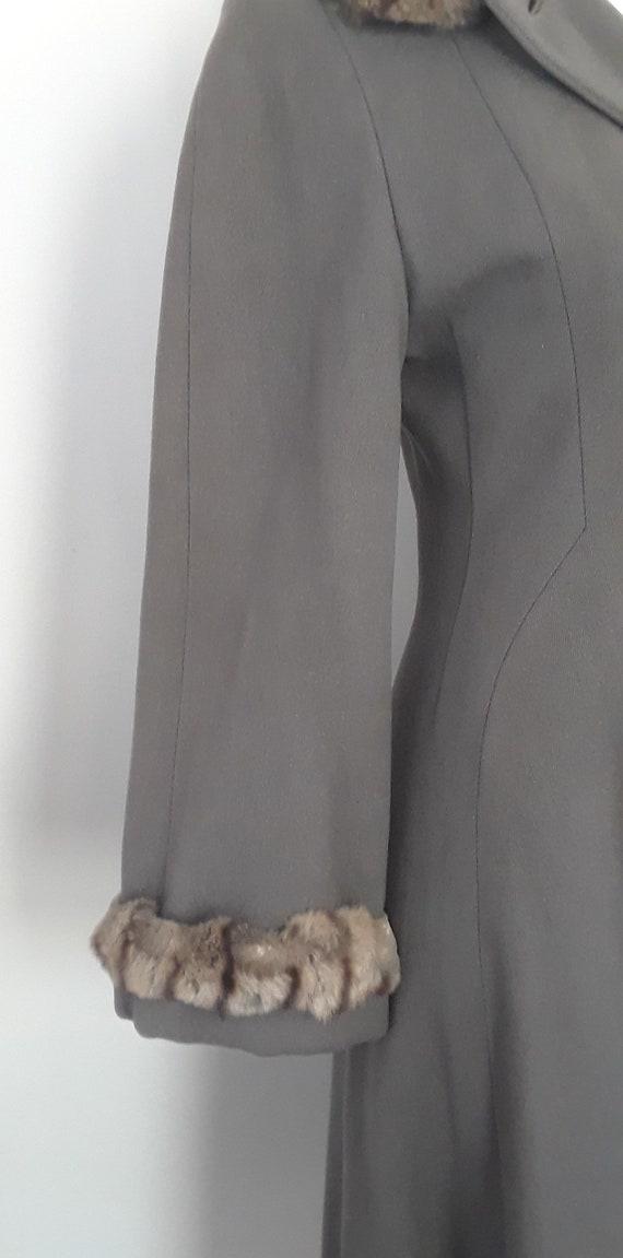 SALE* Vintage 1940s Wool & Chinchilla Princess Co… - image 10