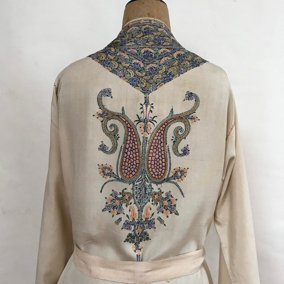 Kashmiri Silk Robe - Pyjama Robe - Embroidered Rob