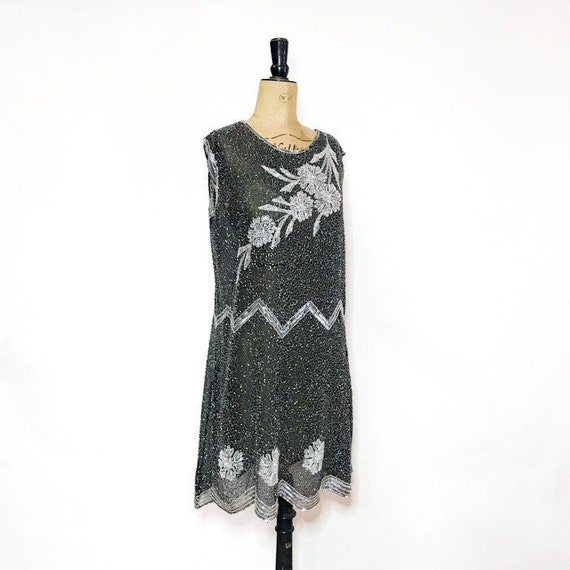 Black and White Flapper Dress - Vintage Monochrome