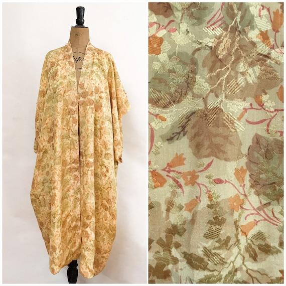 Silk Robe - Vintage Robe - Silk Kaftan - Silk Broc