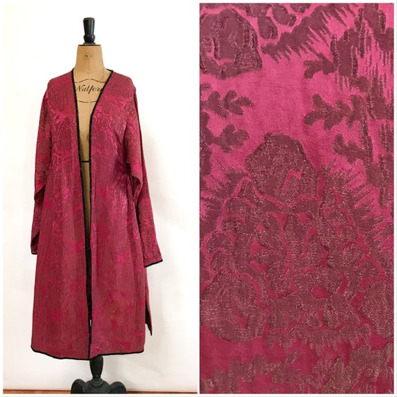 Antique 1920s Silk Lame Flapper Opera Coat