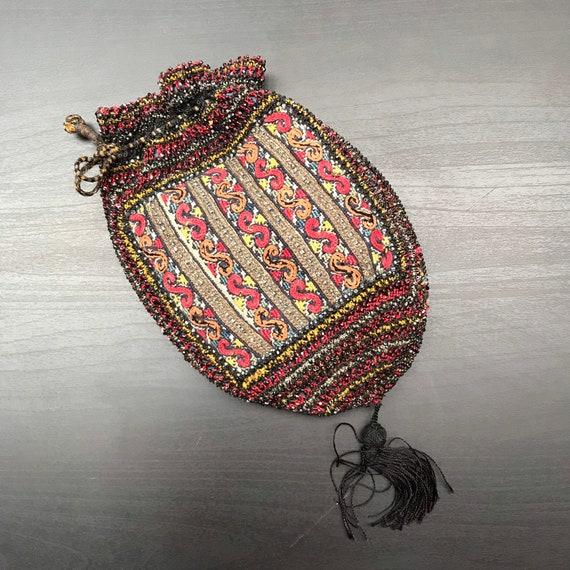 Vintage Evening Bag - Crochet Bag - Beaded Evening