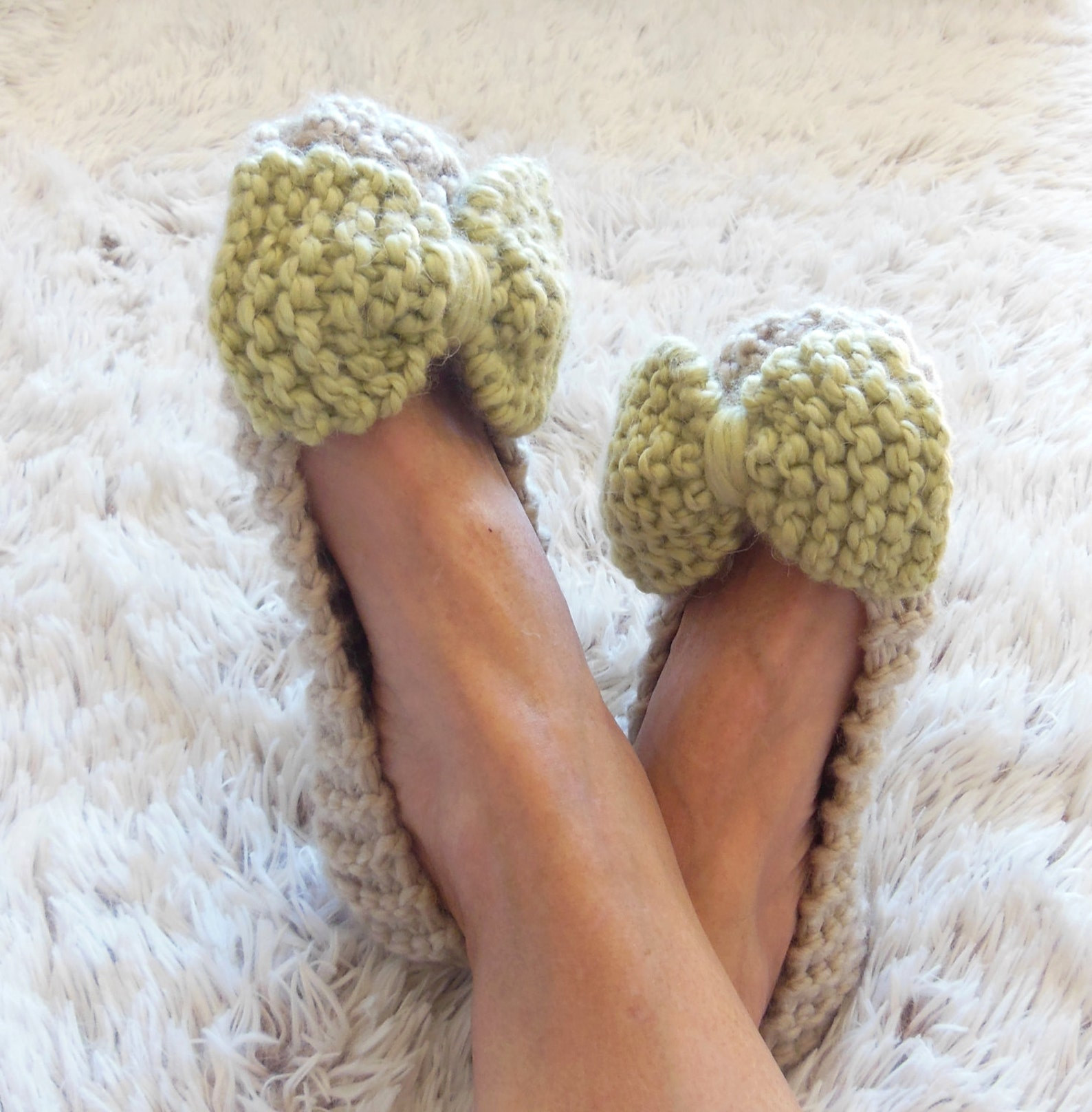 beige slippers, womens slippers, non slip slippers, chunky slippers, wedding ballet flats, bow slippers, home shoes, comfy slipp