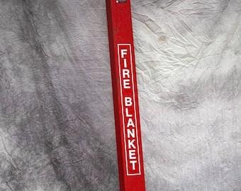 Vintage Fire Blanket Cabinet