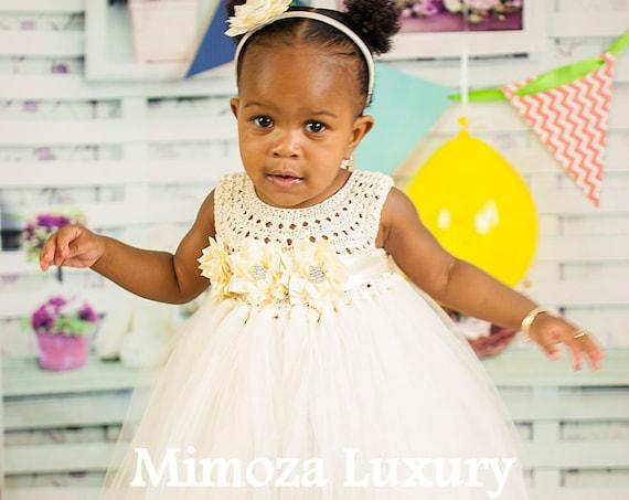 Ivory baby Flower girl Dress